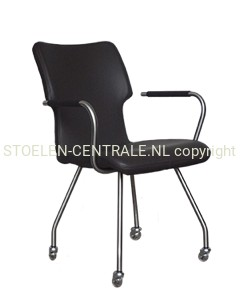 Design stoel leer ella fauteuil leer alpaca draaivoet for Bauhaus stoelen aanbieding